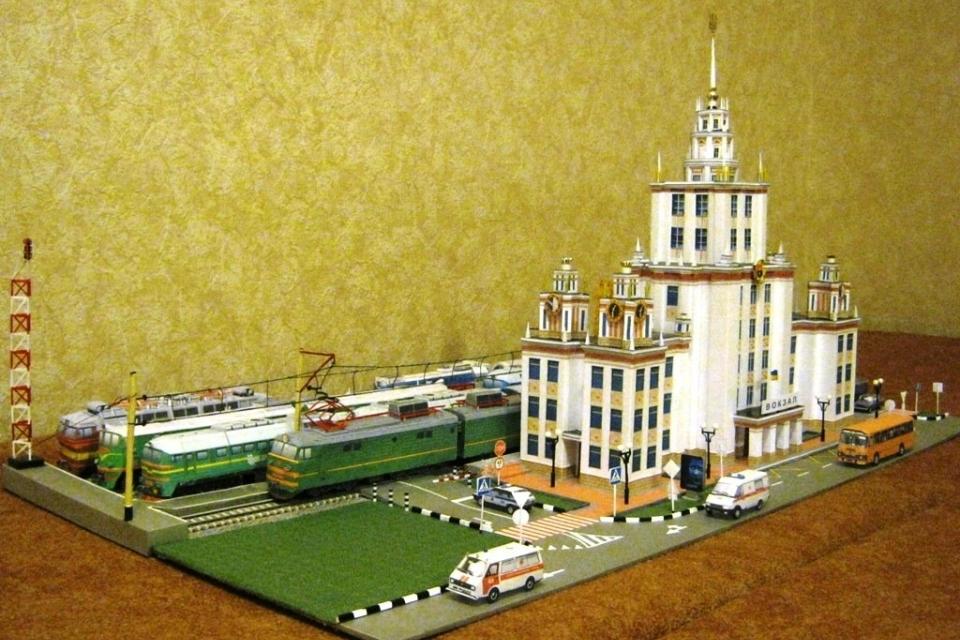 бумажные модели зданий