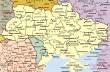 Географическая карта Украины. .