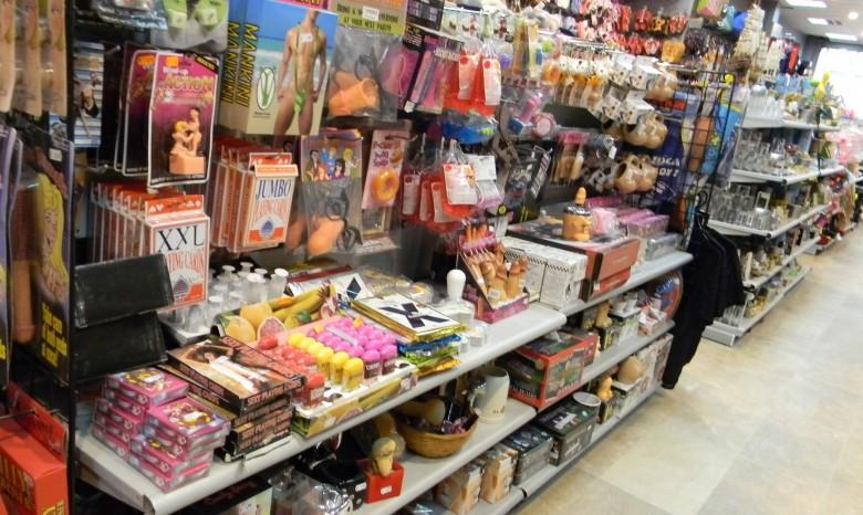 Sex toys store, adult novelties
