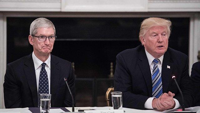 Руководитель Apple иТрамп обсудили, как предотвратить торговую войну сКитаем